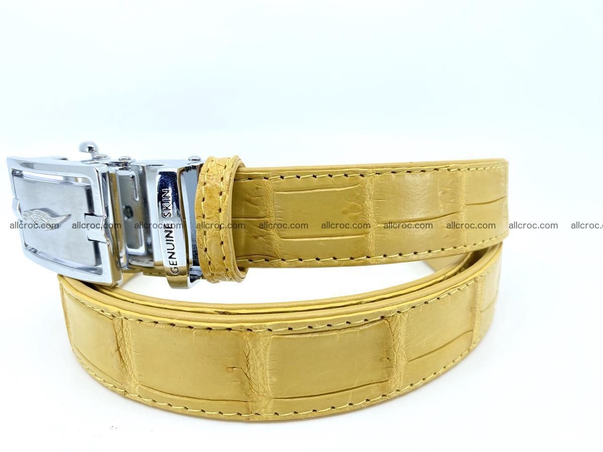 Handcrafted crocodile skin belt for women 857 Foto 3