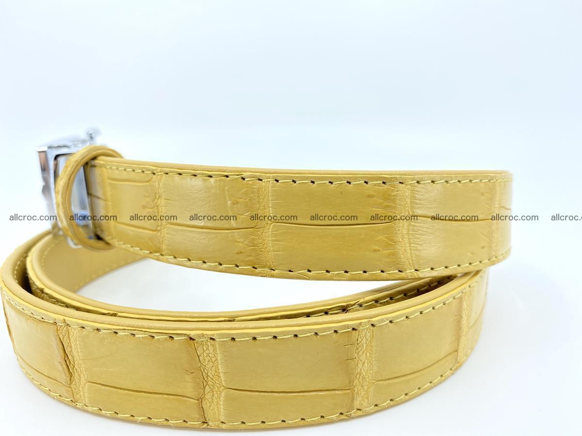 Handcrafted crocodile skin belt for women 857 Foto 4
