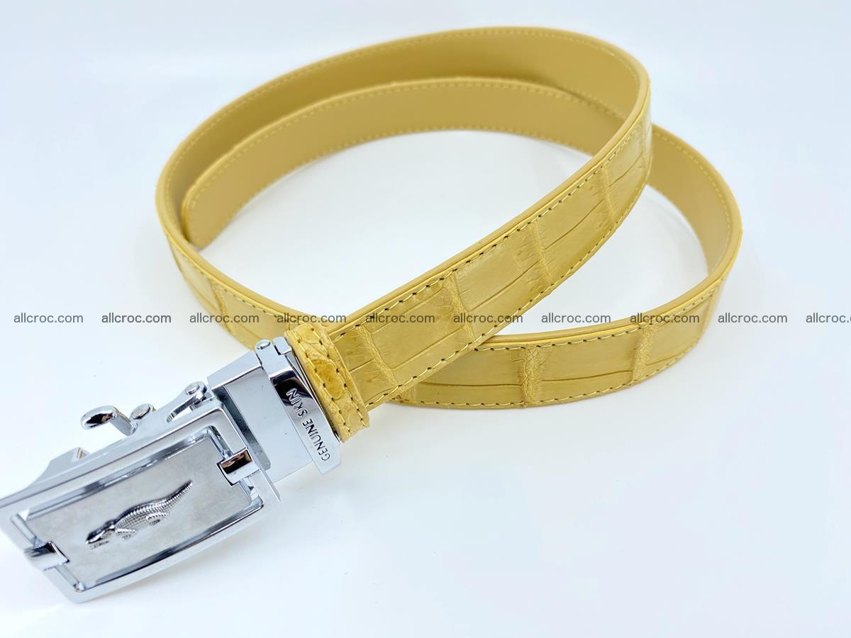 Handcrafted crocodile skin belt for women 857 Foto 1