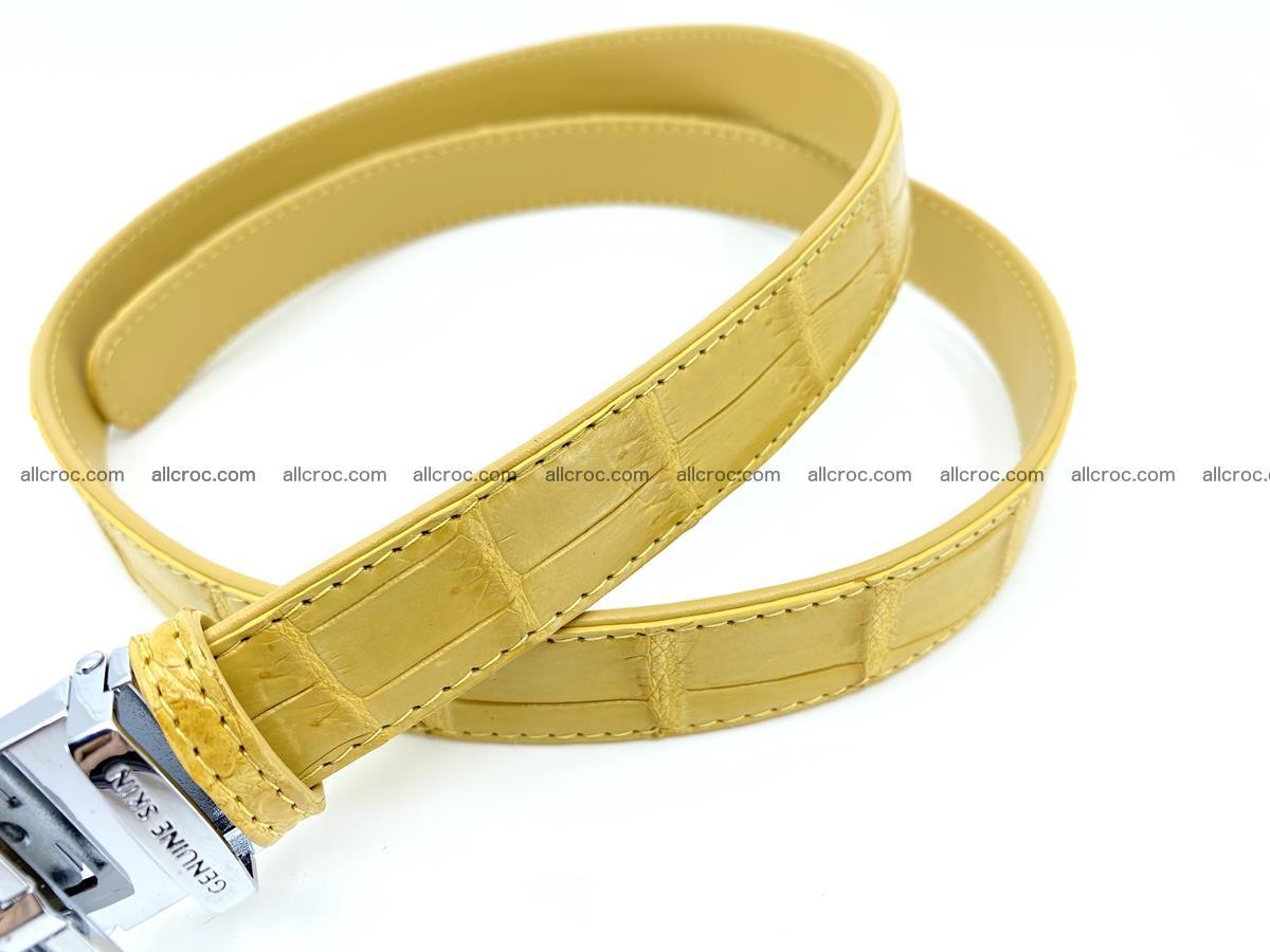 Handcrafted crocodile skin belt for women 857 Foto 2