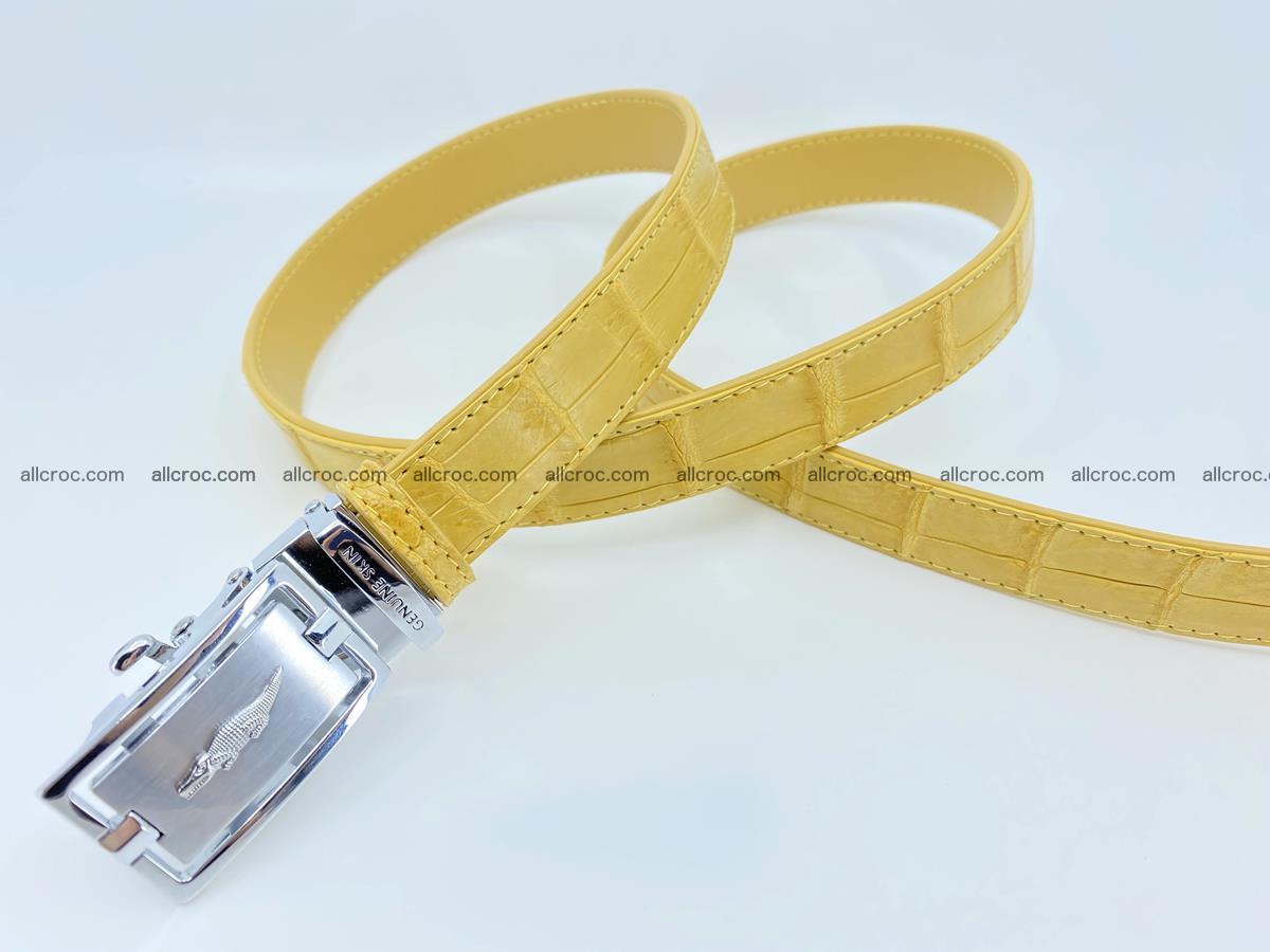 Handcrafted crocodile skin belt for women 857 Foto 5