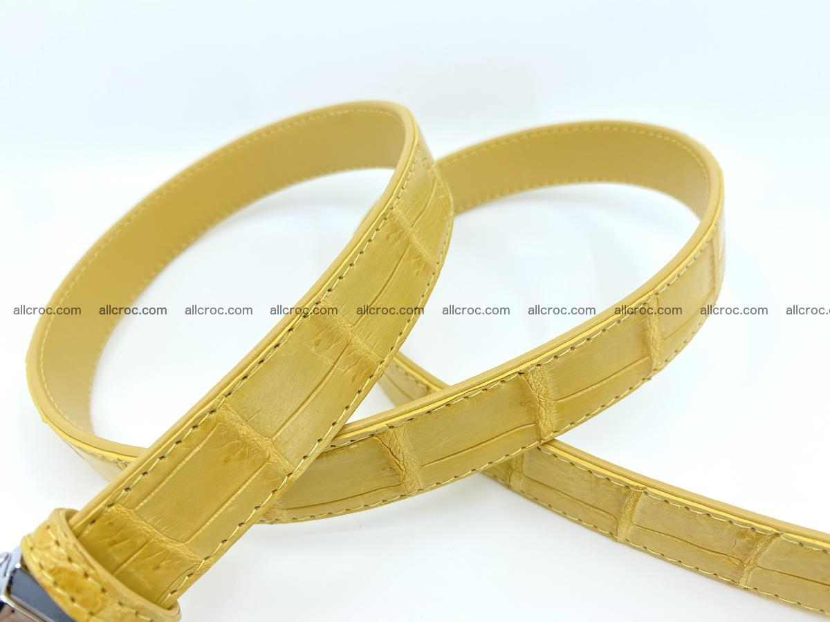 Handcrafted crocodile skin belt for women 857 Foto 6