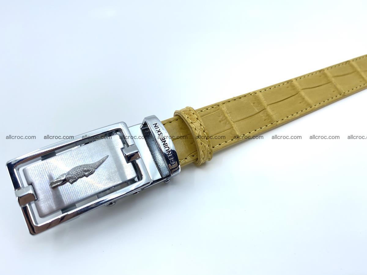 Handcrafted crocodile skin belt for women 857 Foto 7
