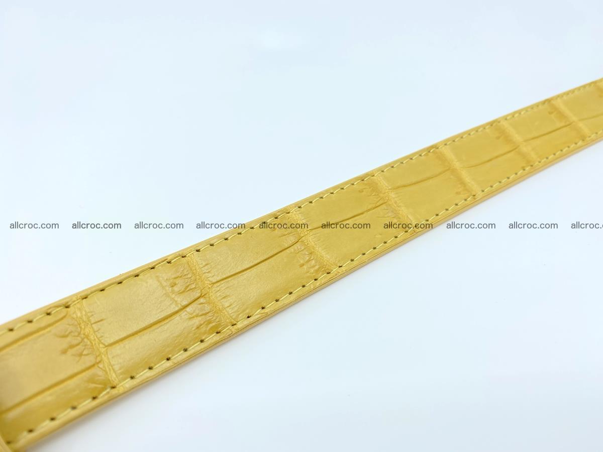 Handcrafted crocodile skin belt for women 857 Foto 8