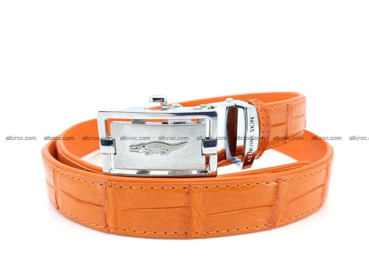 Handcrafted crocodile skin belt for women 848 Foto 0