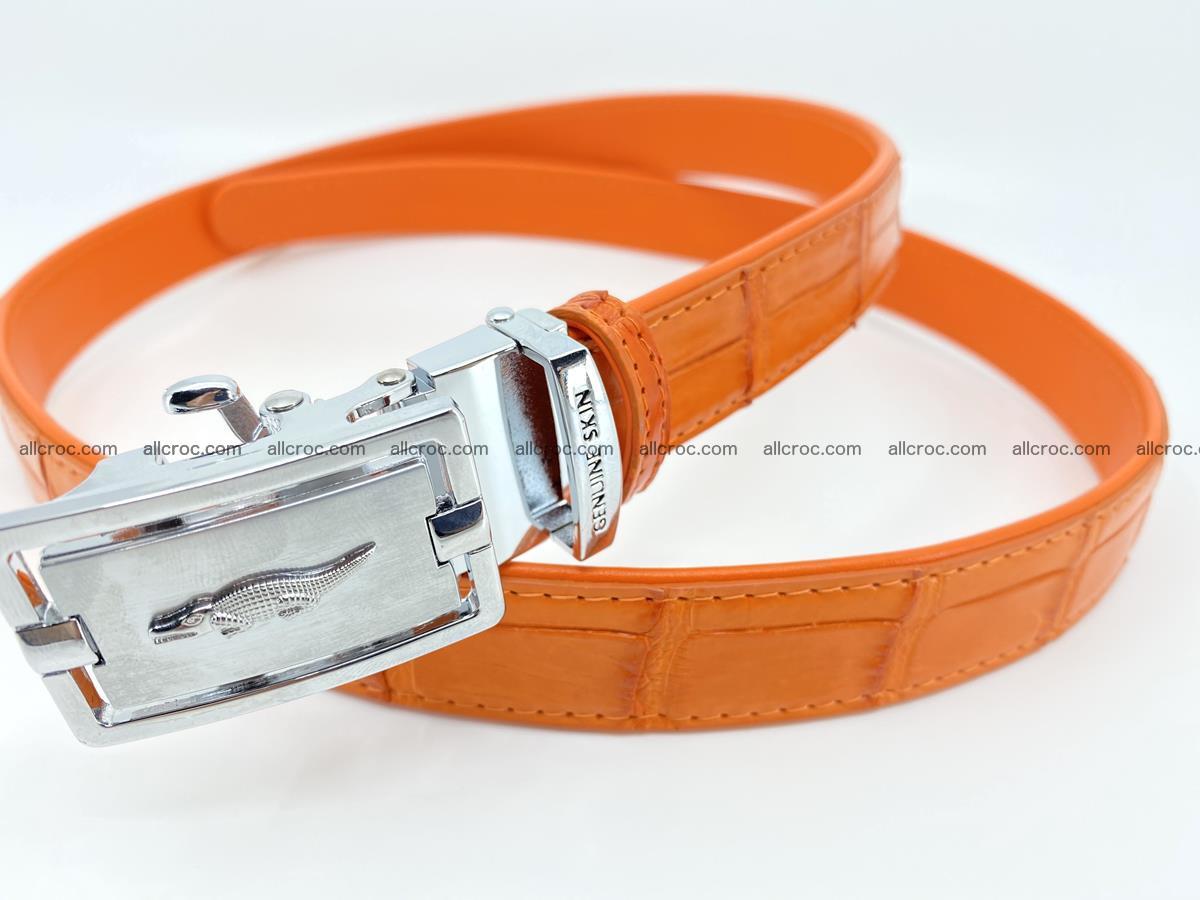 Handcrafted crocodile skin belt for women 848 Foto 1