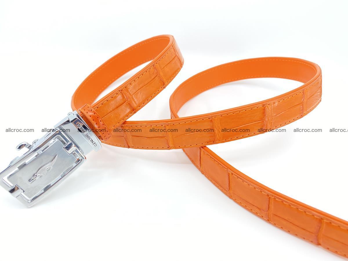 Handcrafted crocodile skin belt for women 848 Foto 2