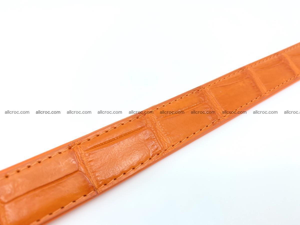 Handcrafted crocodile skin belt for women 848 Foto 4