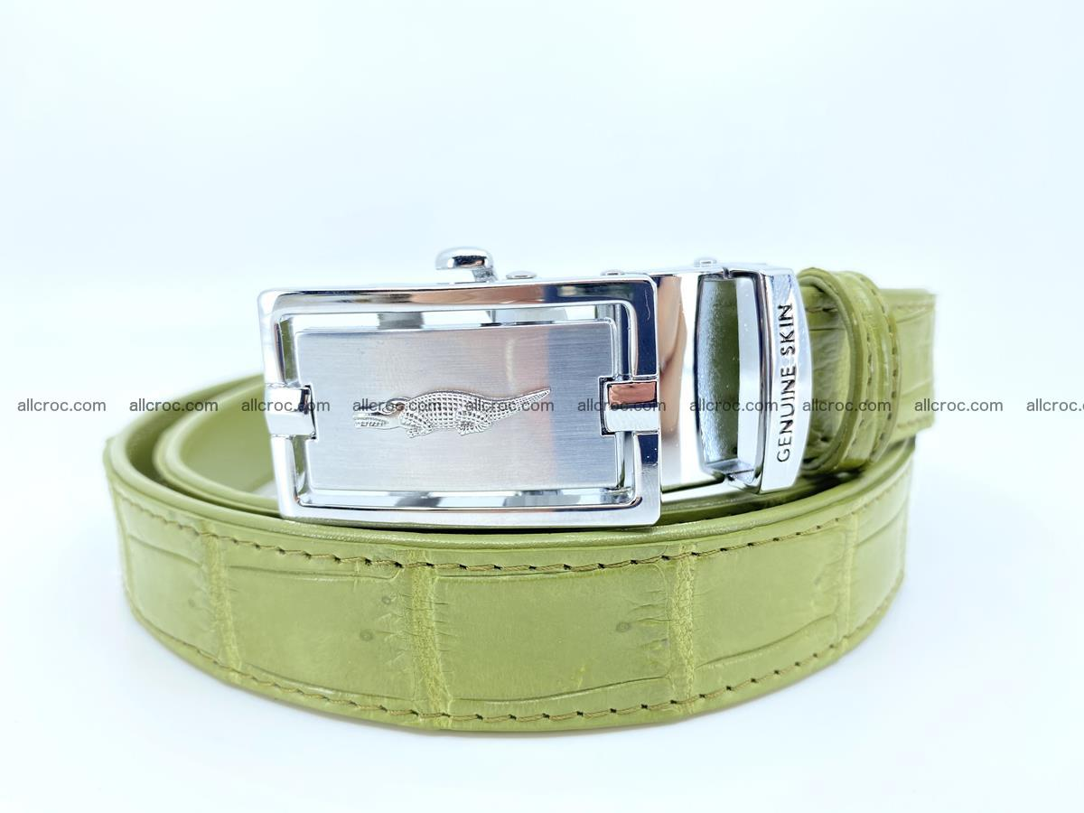 Handcrafted crocodile skin belt for women 847 Foto 0