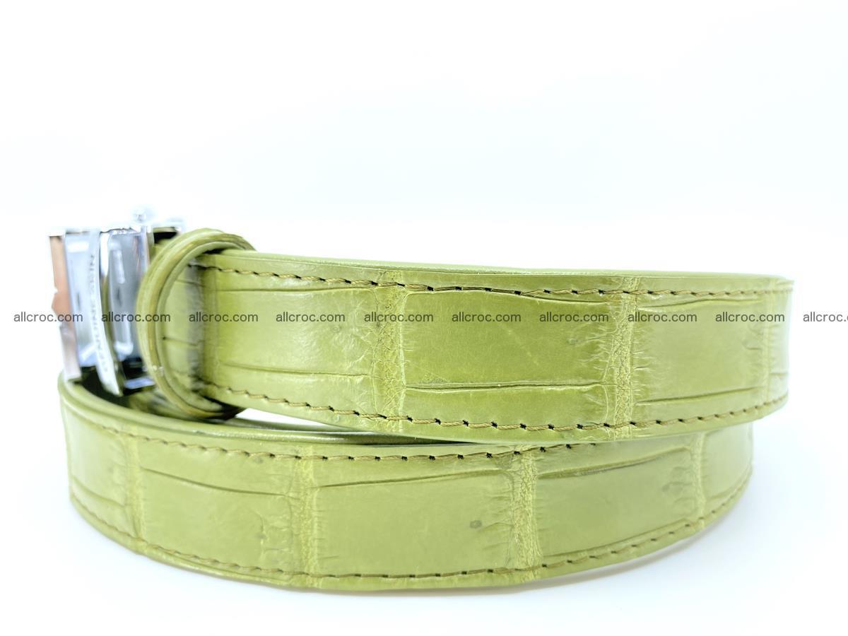 Handcrafted crocodile skin belt for women 847 Foto 1