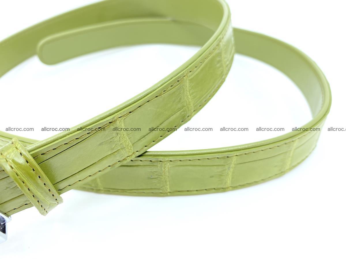 Handcrafted crocodile skin belt for women 847 Foto 3