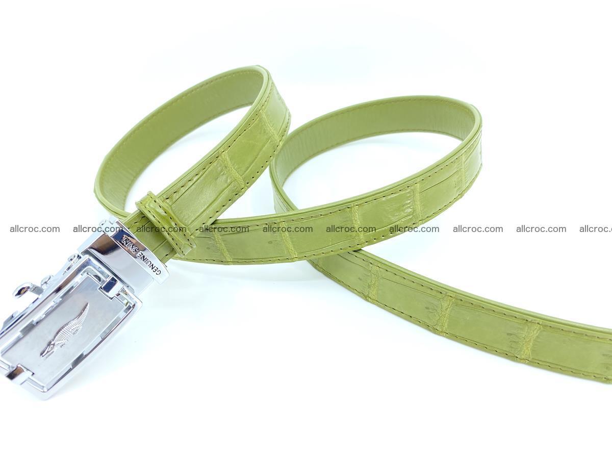 Handcrafted crocodile skin belt for women 847 Foto 2