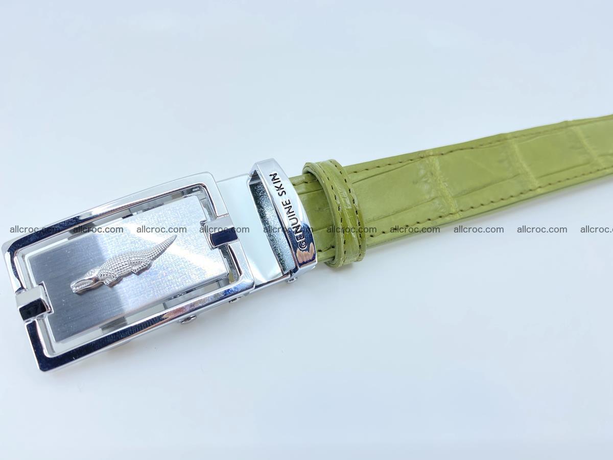 Handcrafted crocodile skin belt for women 847 Foto 5
