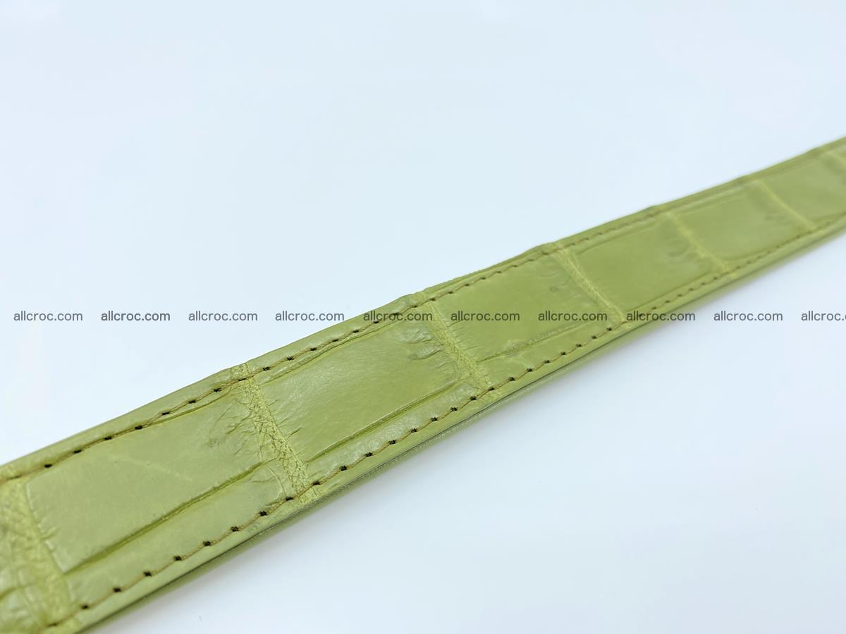 Handcrafted crocodile skin belt for women 847 Foto 4