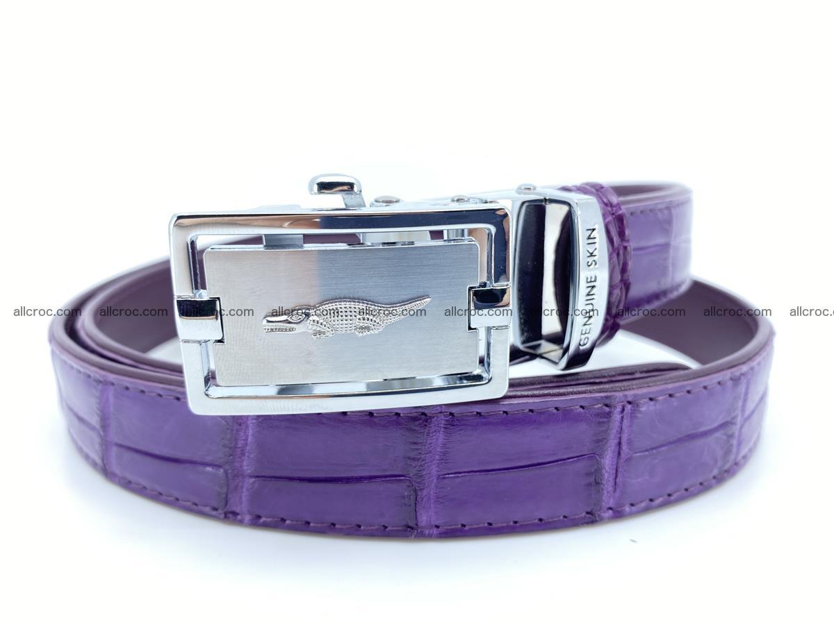 Handcrafted crocodile skin belt for women 854 Foto 0