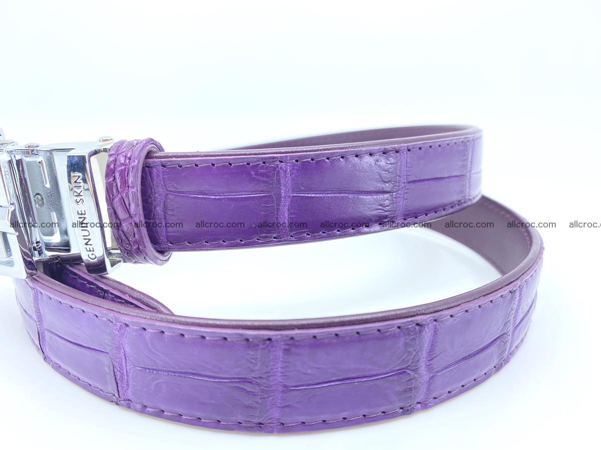 Handcrafted crocodile skin belt for women 854 Foto 1