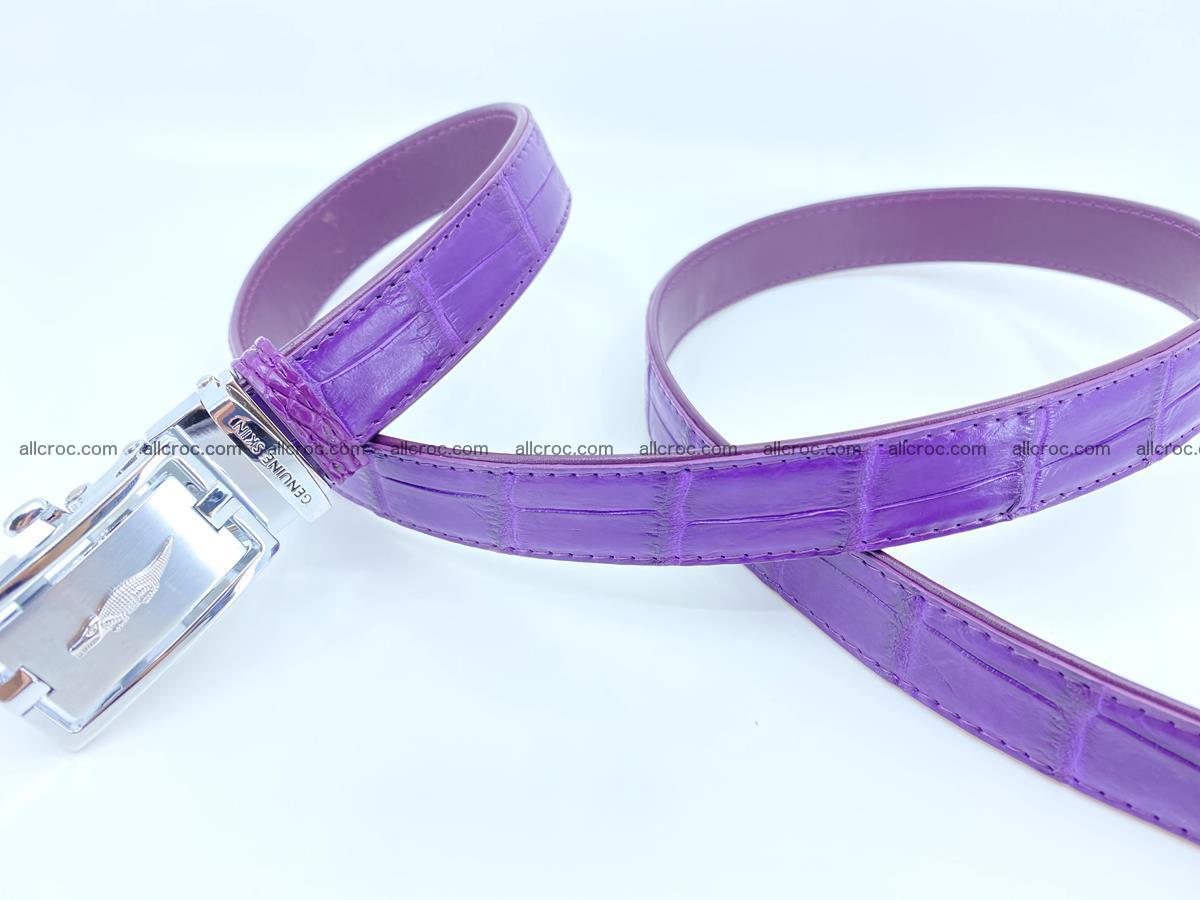 Handcrafted crocodile skin belt for women 854 Foto 2
