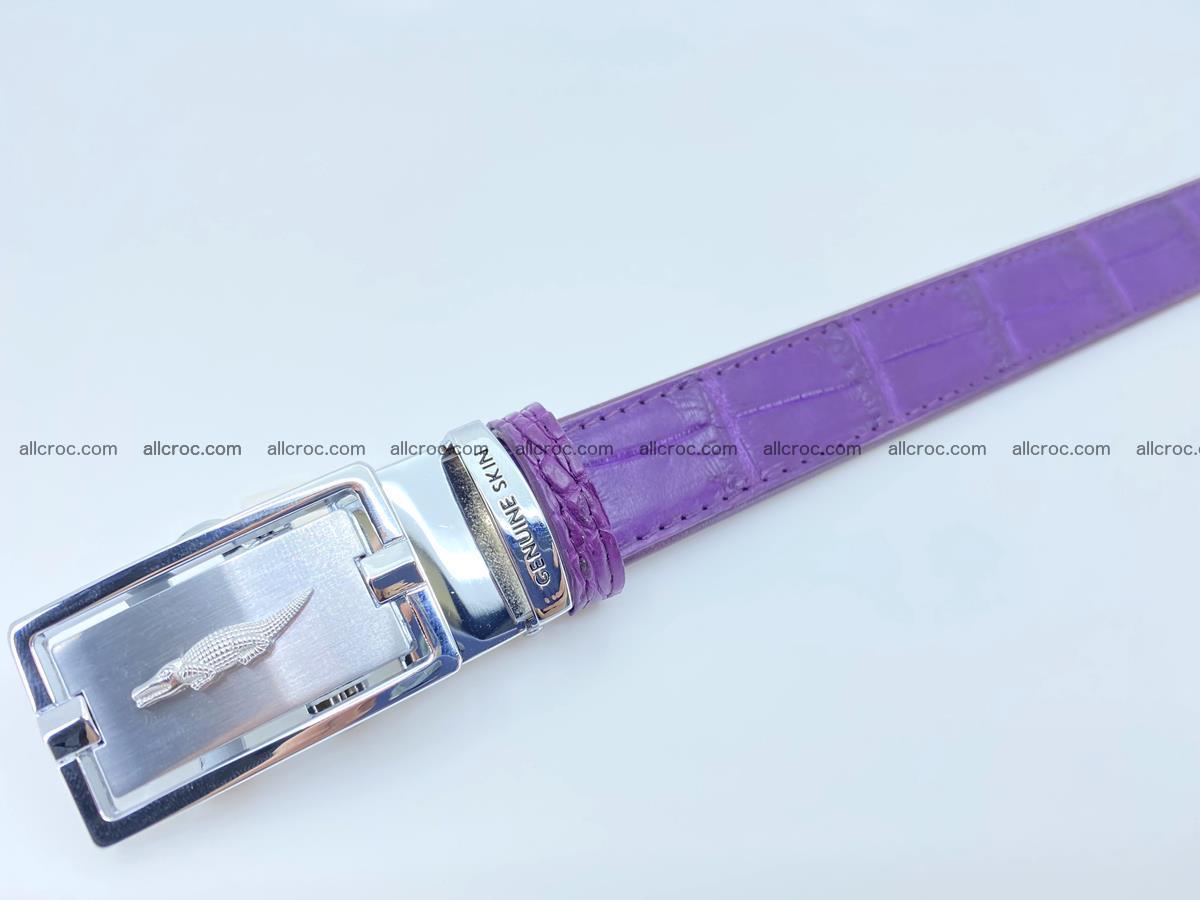 Handcrafted crocodile skin belt for women 854 Foto 3