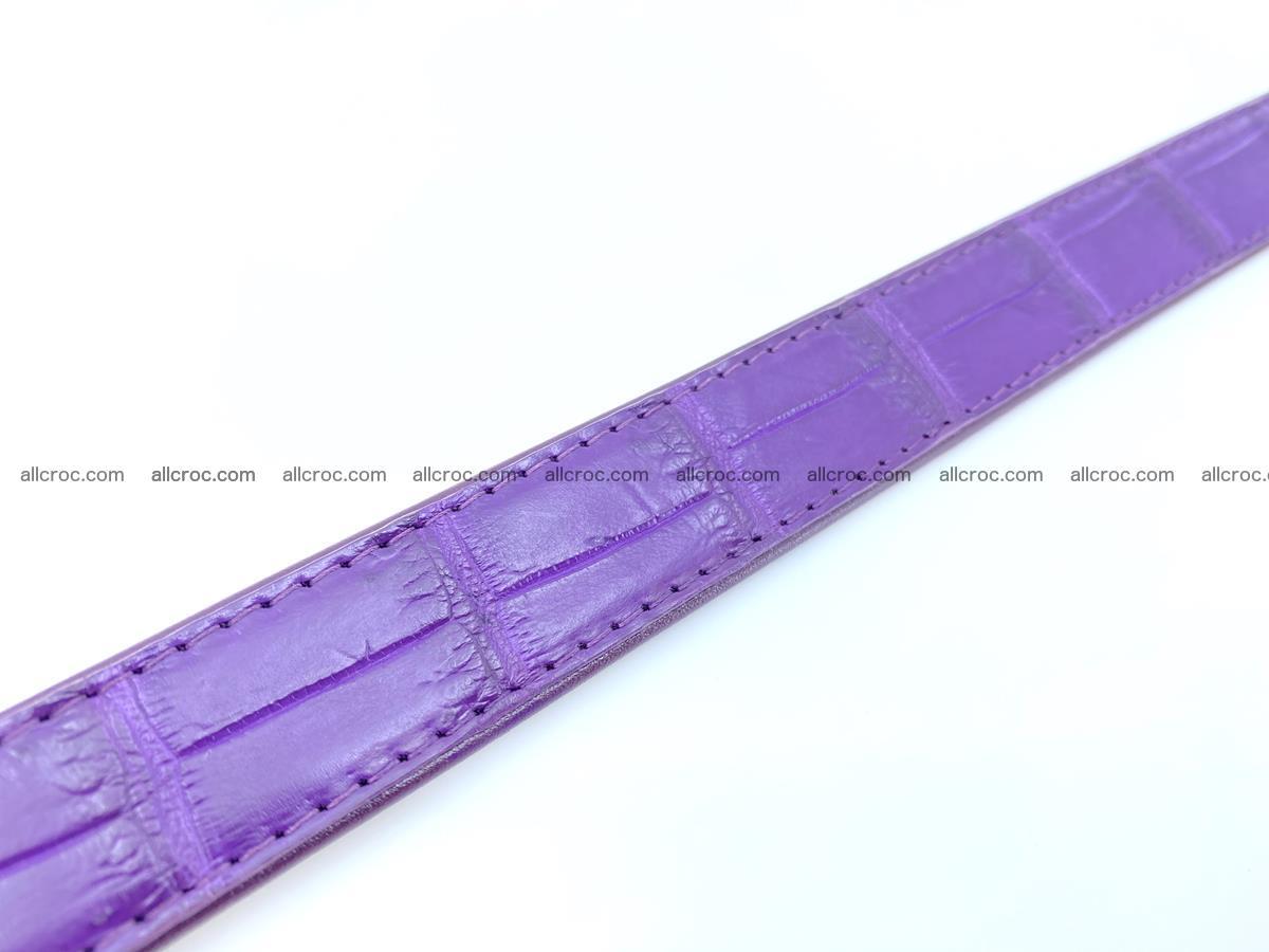 Handcrafted crocodile skin belt for women 854 Foto 4