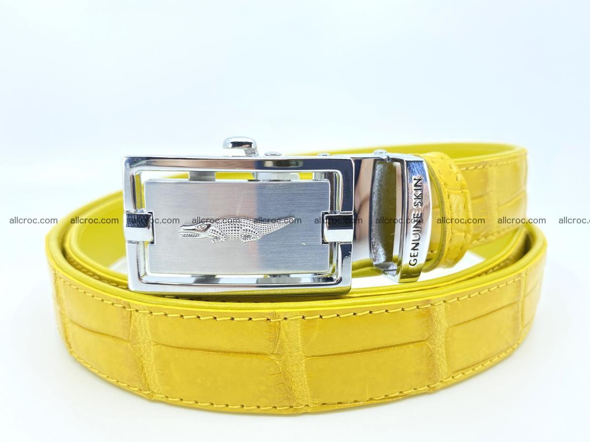 Handcrafted crocodile skin belt for women 858 Foto 0