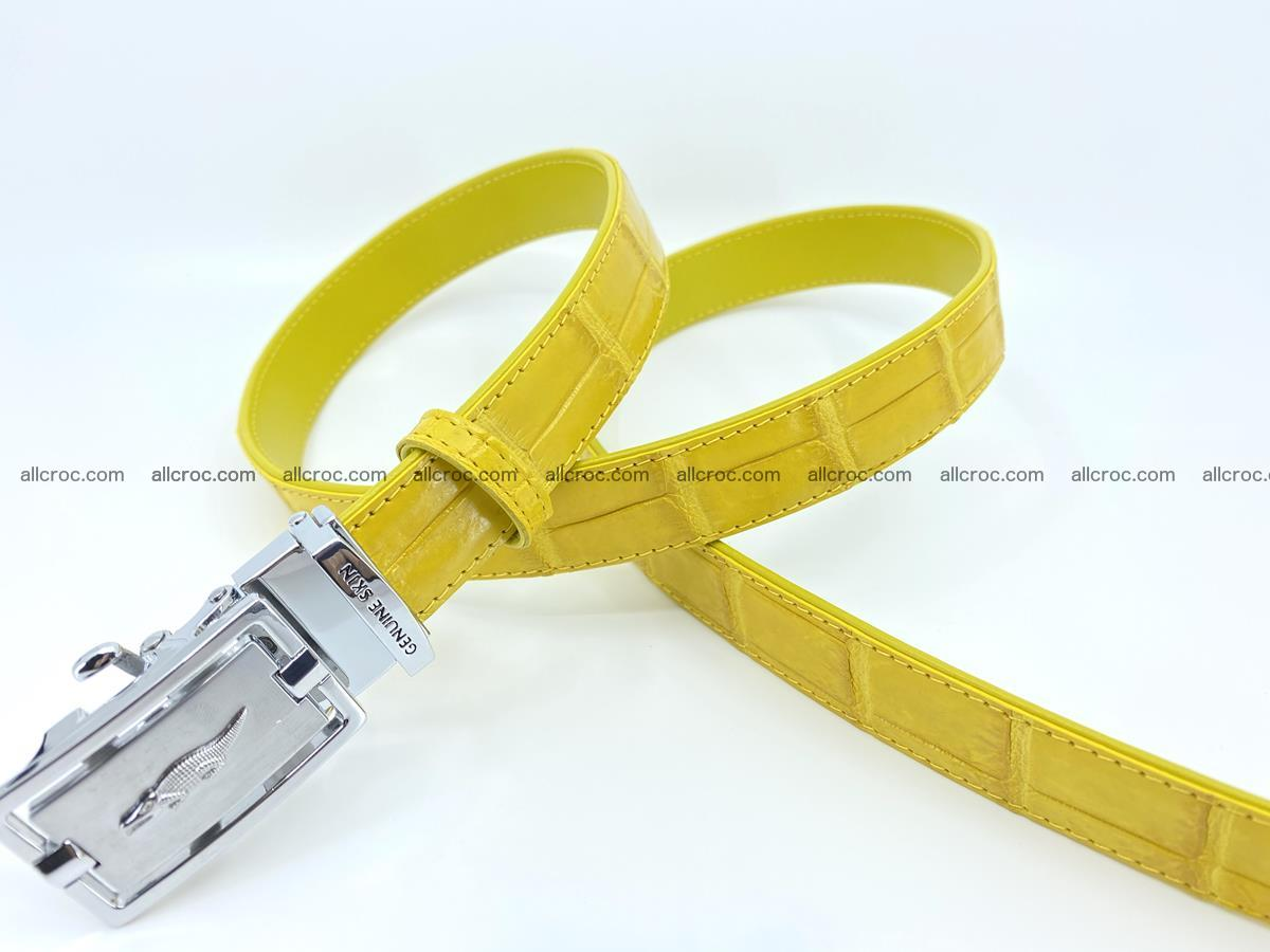 Handcrafted crocodile skin belt for women 858 Foto 2