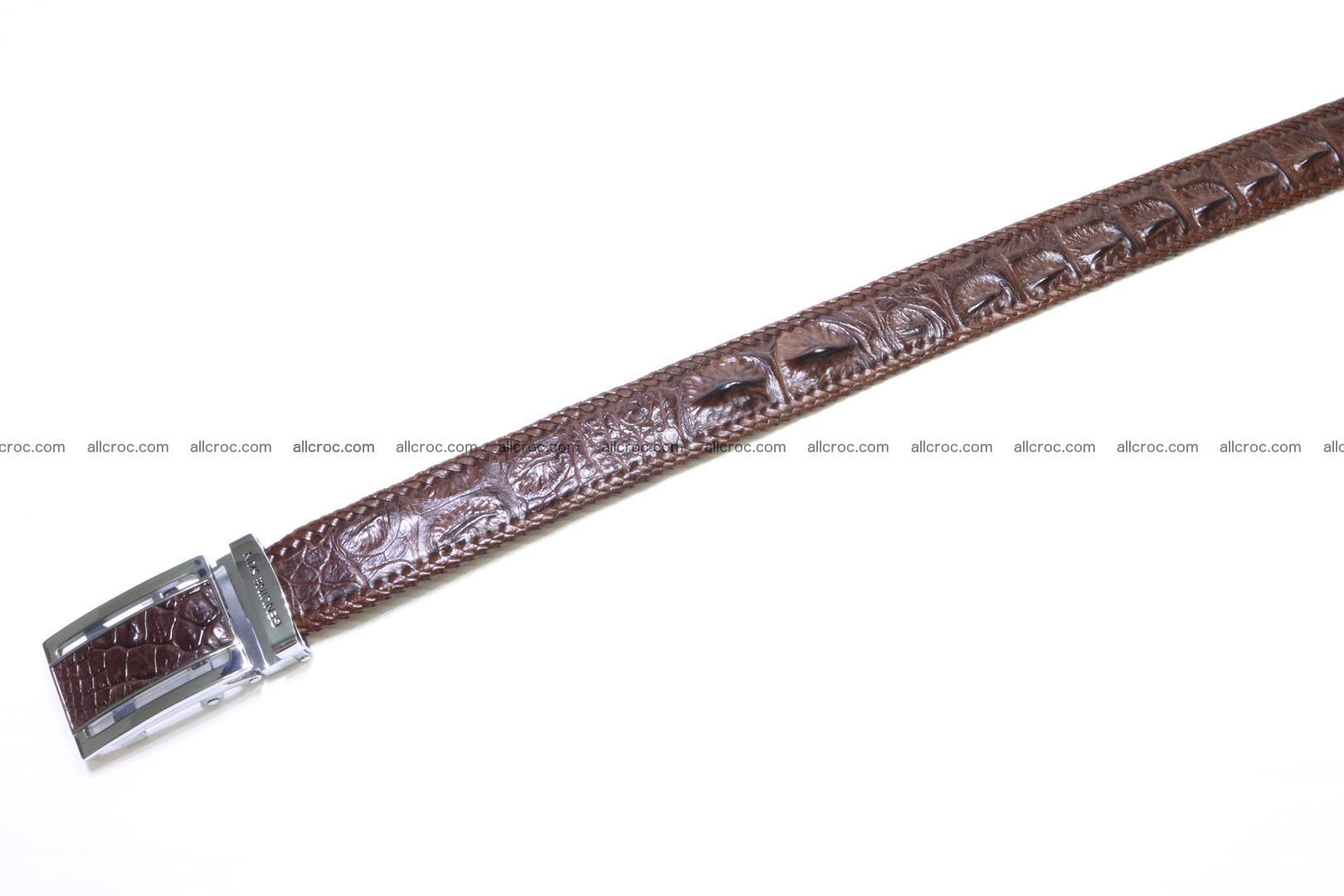 Handmade braided hornback genuine crocodile belt 011 Foto 2