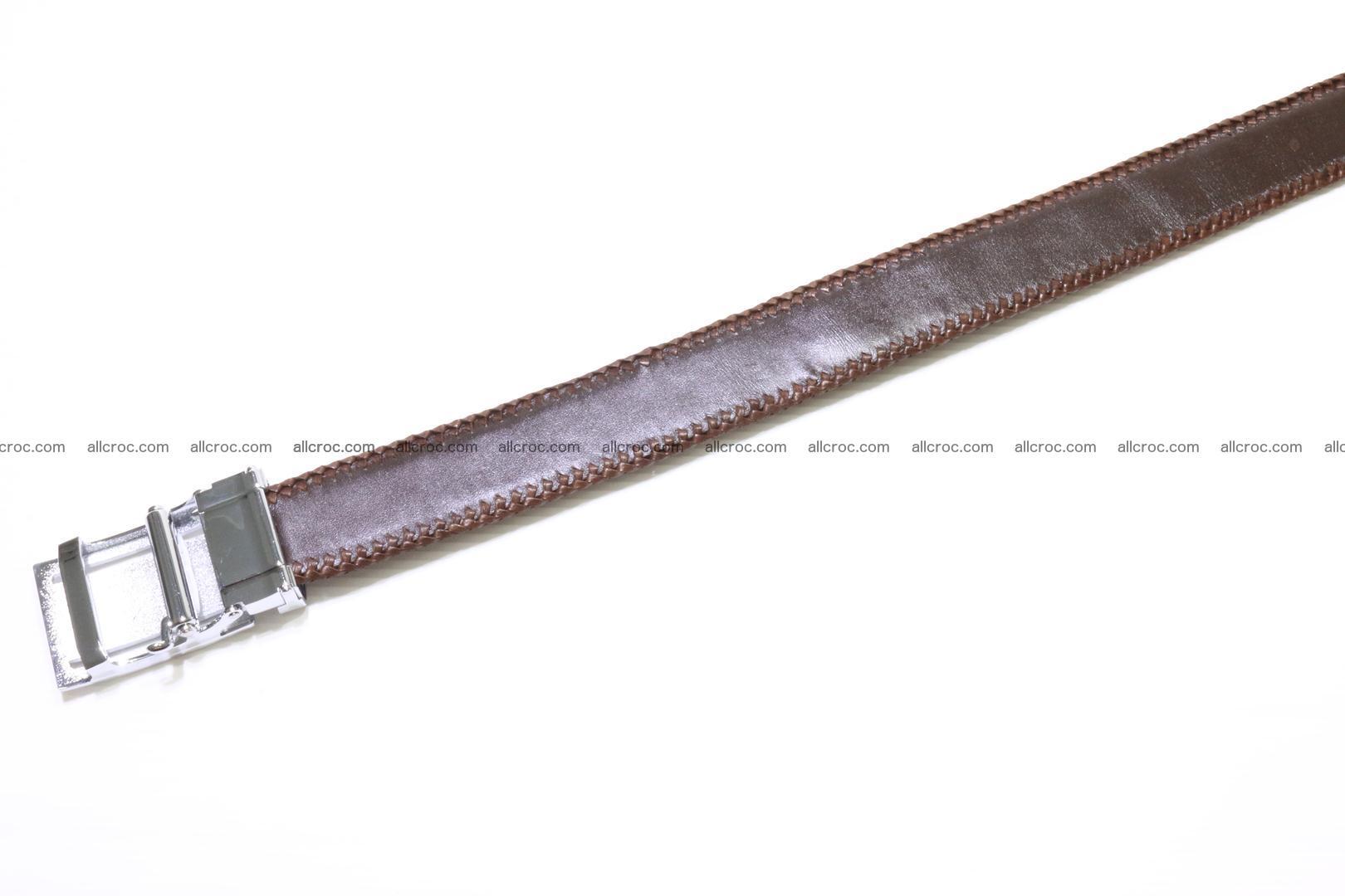 Handmade braided hornback genuine crocodile belt 011 Foto 3