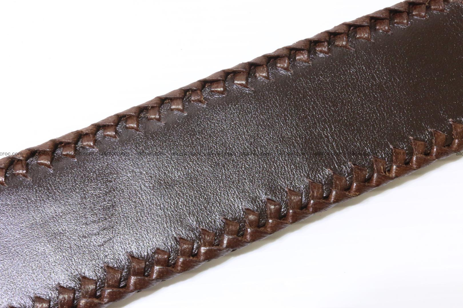 Handmade braided hornback genuine crocodile belt 011 Foto 5
