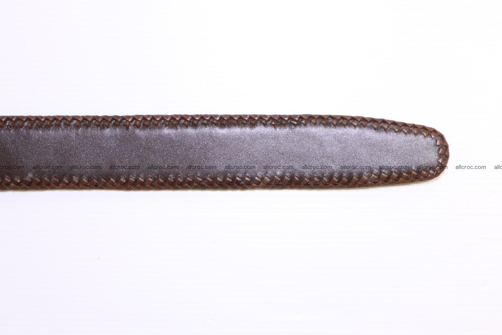 Handmade braided hornback genuine crocodile belt 011 Foto 7
