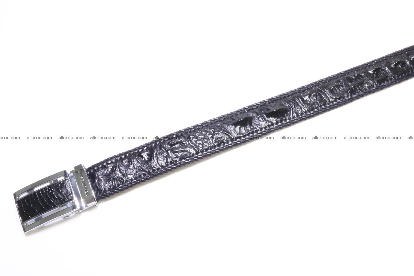 Handmade braided hornback genuine crocodile belt 012 Foto 2