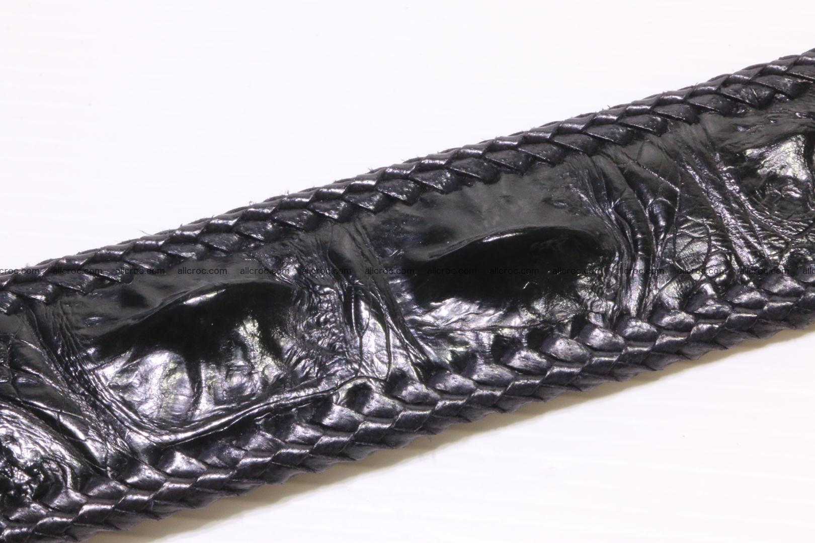 Handmade braided hornback genuine crocodile belt 012 Foto 4