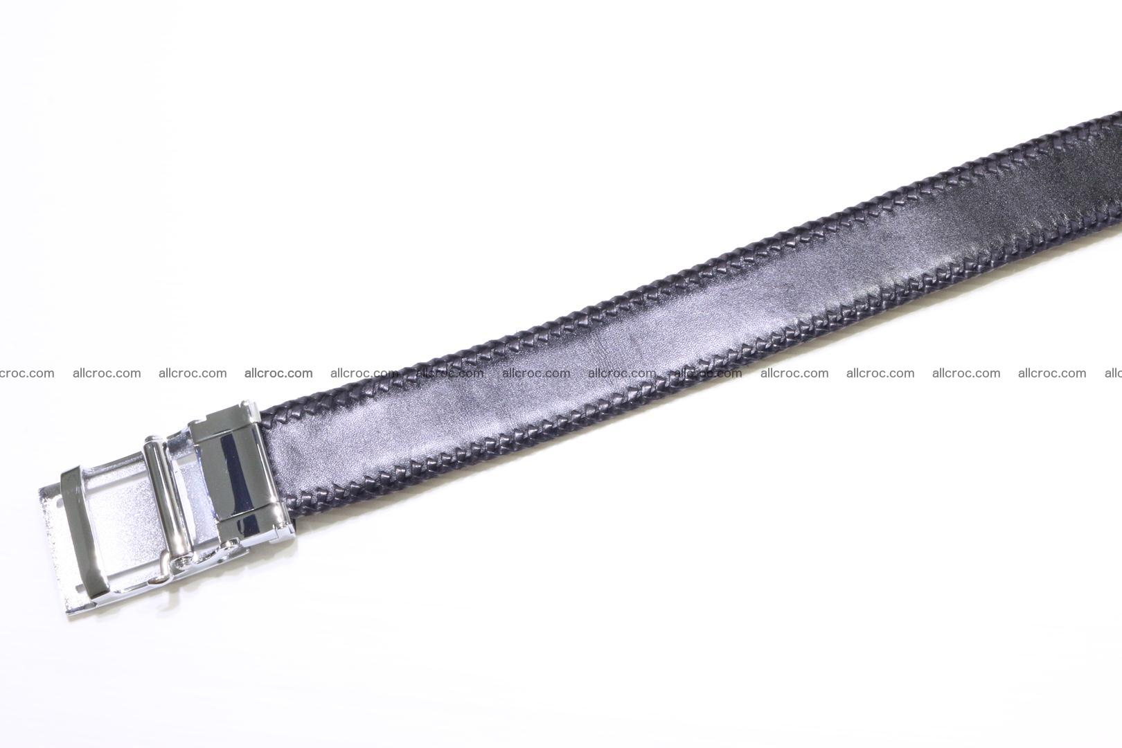 Handmade braided hornback genuine crocodile belt 012 Foto 3
