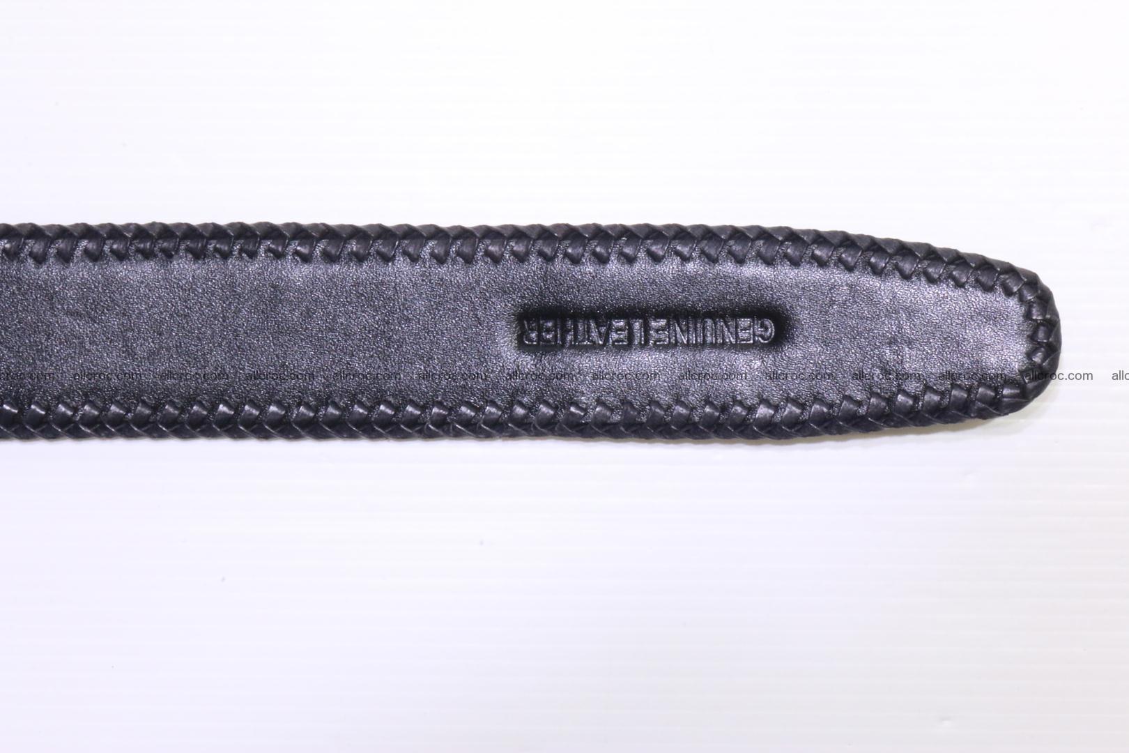 Handmade braided hornback genuine crocodile belt 012 Foto 7