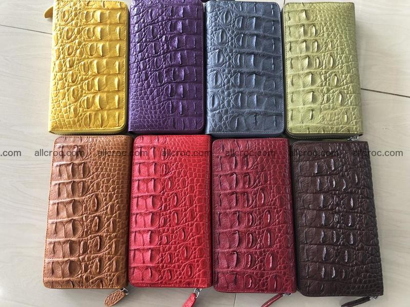 Hornback crocodile skin wallet with zip 465