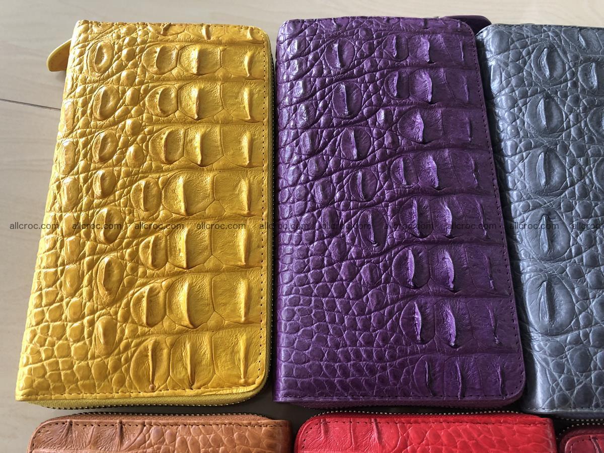 Hornback crocodile skin wallet with zip 465 Foto 1