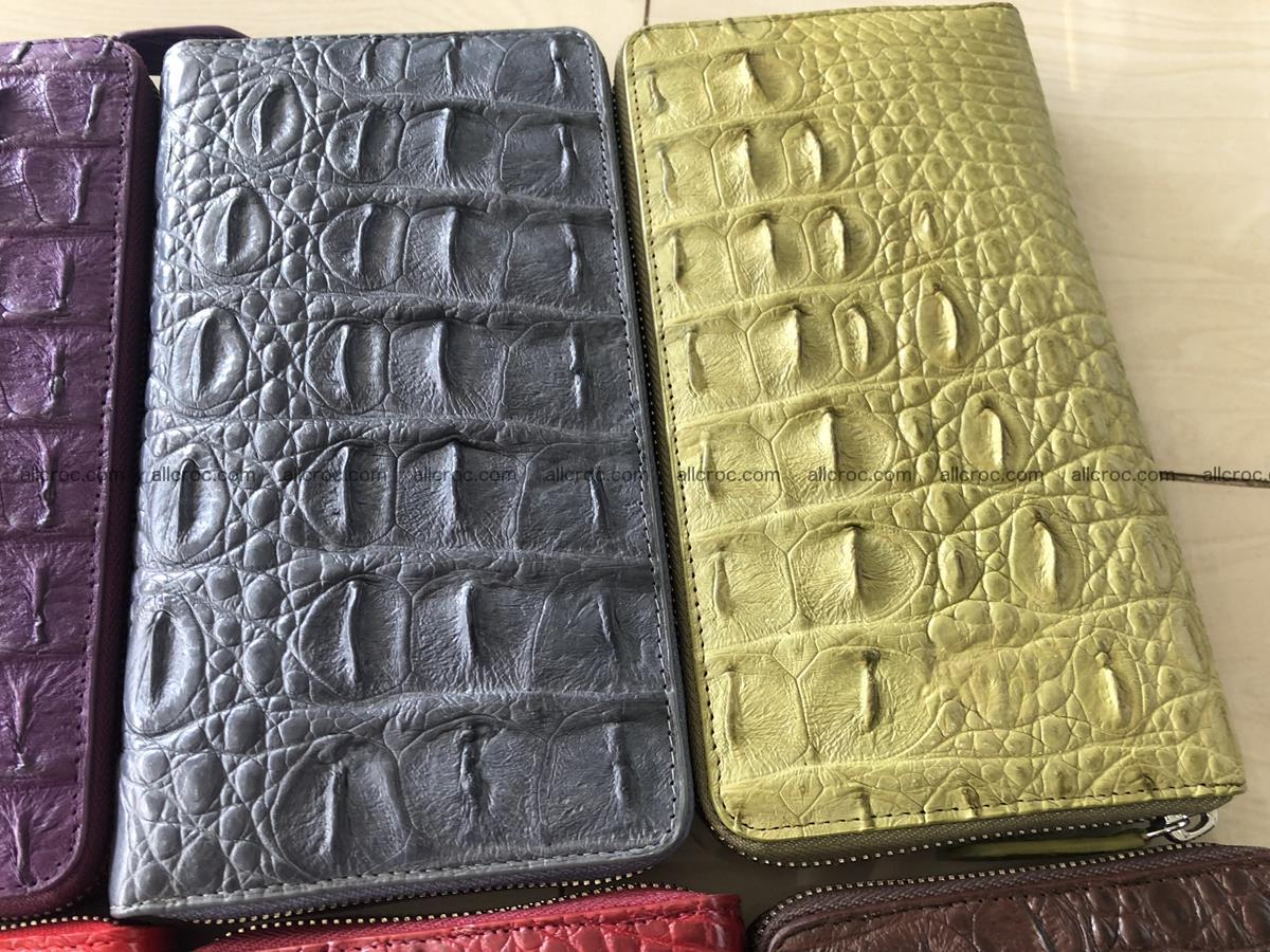 Hornback crocodile skin wallet with zip 465 Foto 2