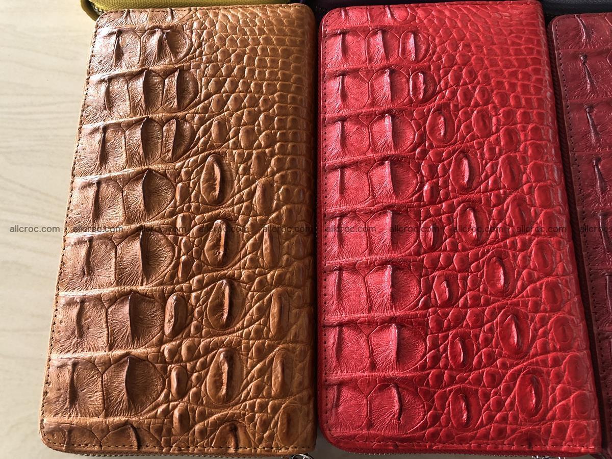Hornback crocodile skin wallet with zip 465 Foto 3
