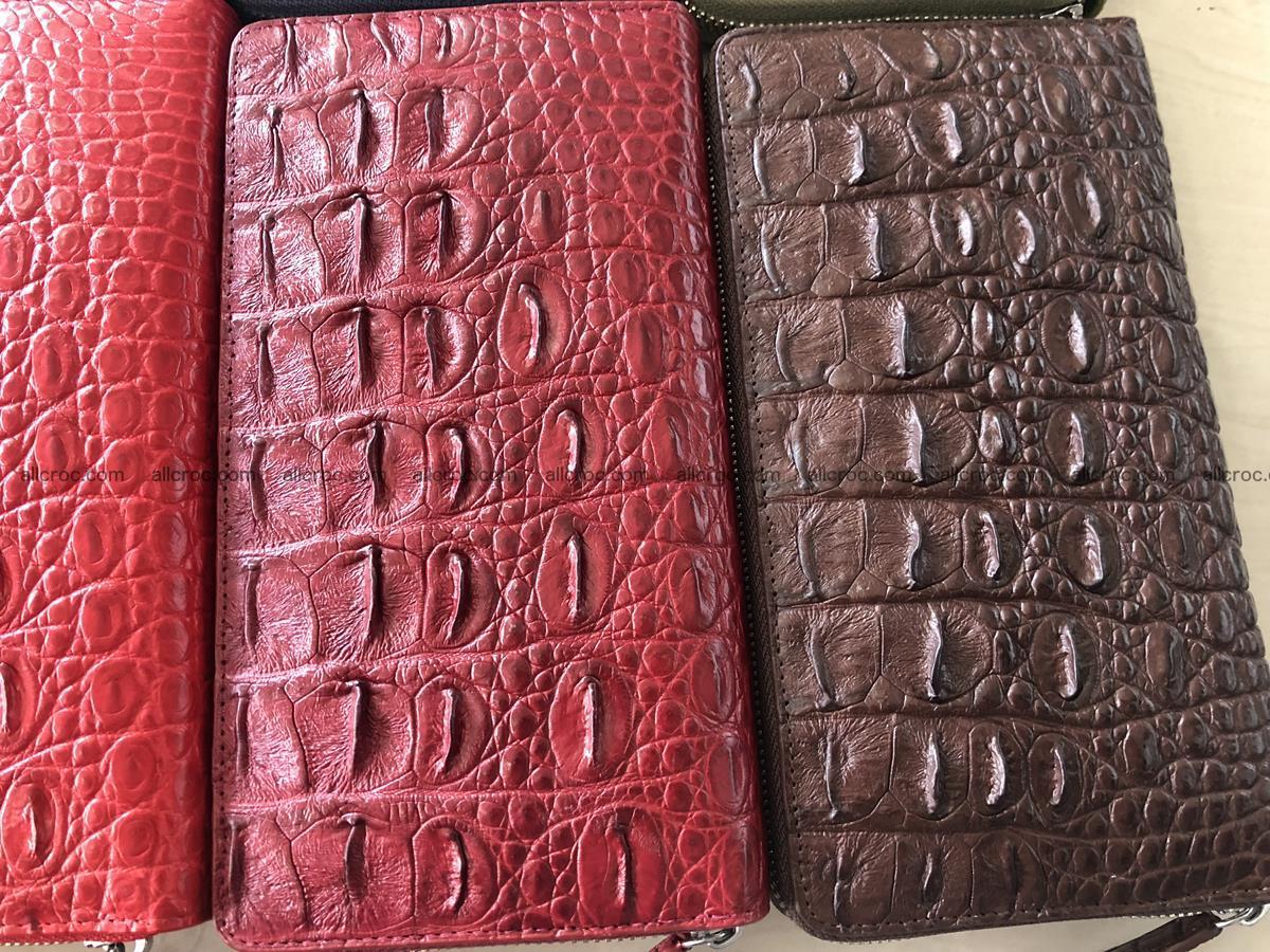 Hornback crocodile skin wallet with zip 465 Foto 4