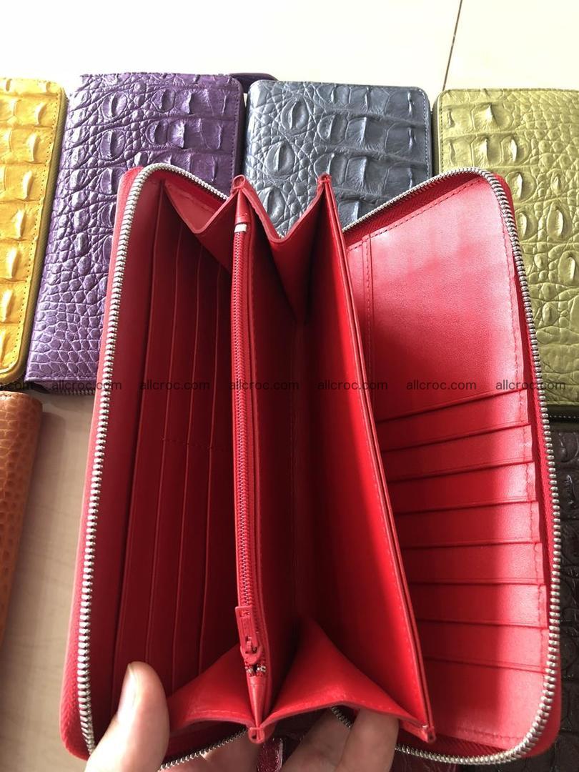 Hornback crocodile skin wallet with zip 465 Foto 5