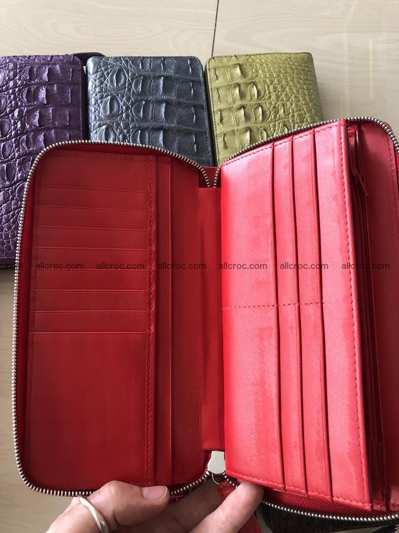 Hornback crocodile skin wallet with zip 465 Foto 6