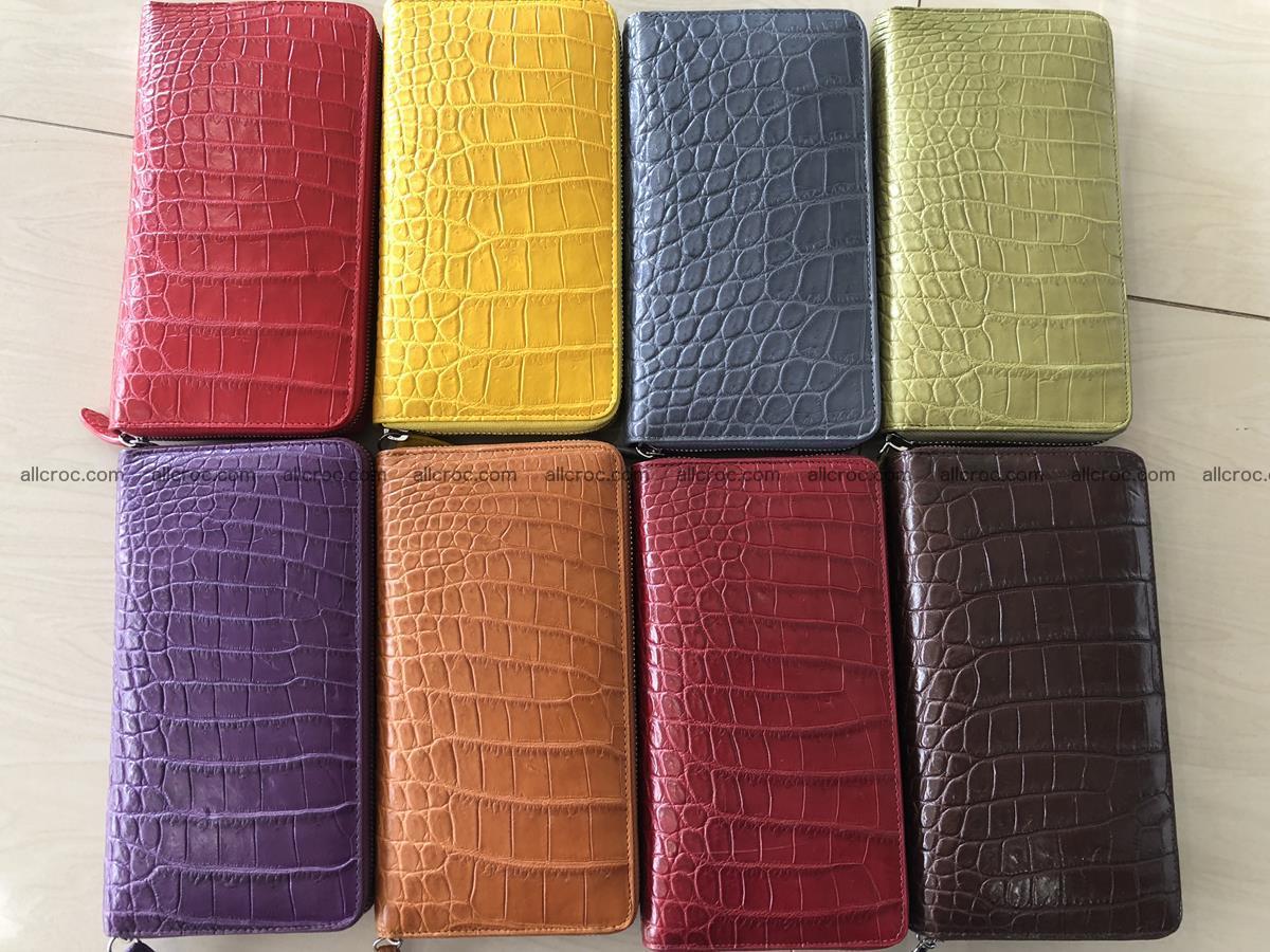 Hornback crocodile skin wallet with zip 465 Foto 7