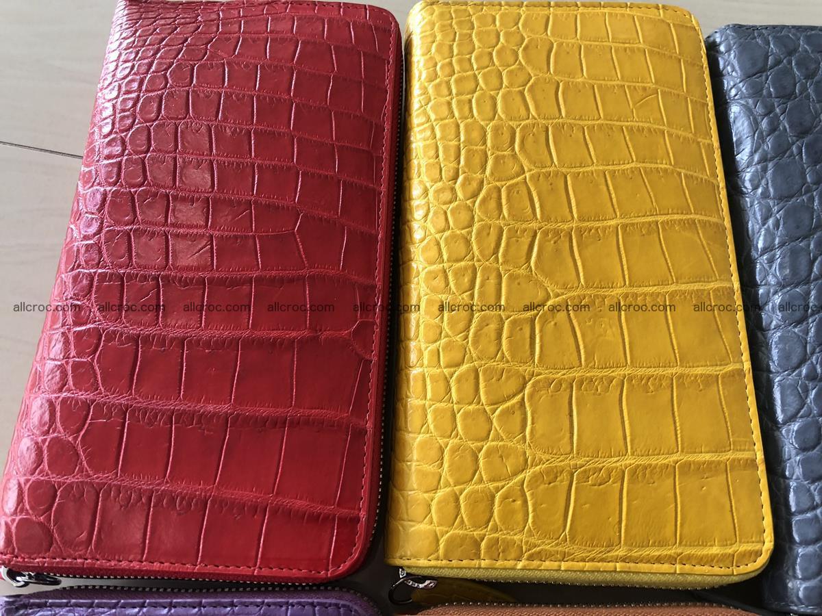 Hornback crocodile skin wallet with zip 465 Foto 8