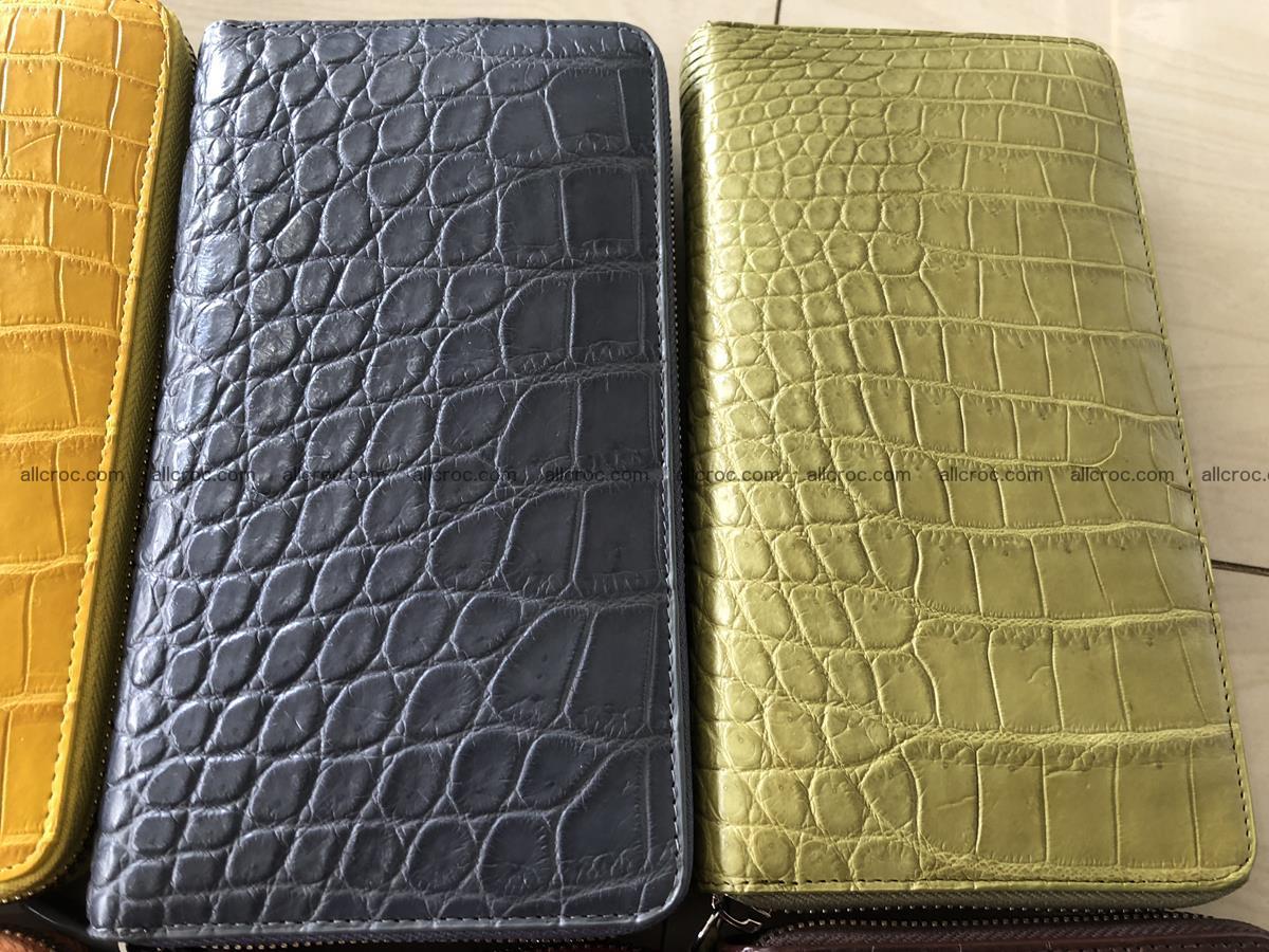 Hornback crocodile skin wallet with zip 465 Foto 9