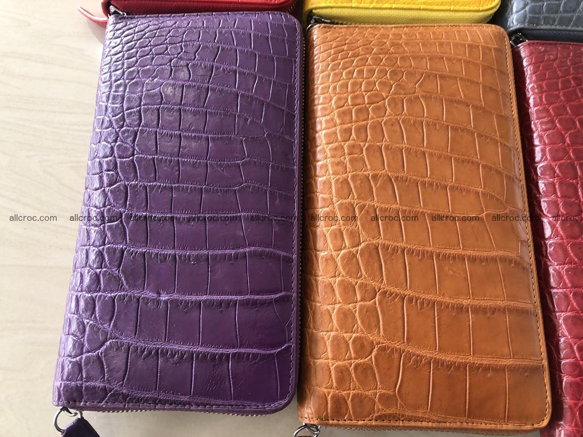 Hornback crocodile skin wallet with zip 465 Foto 10