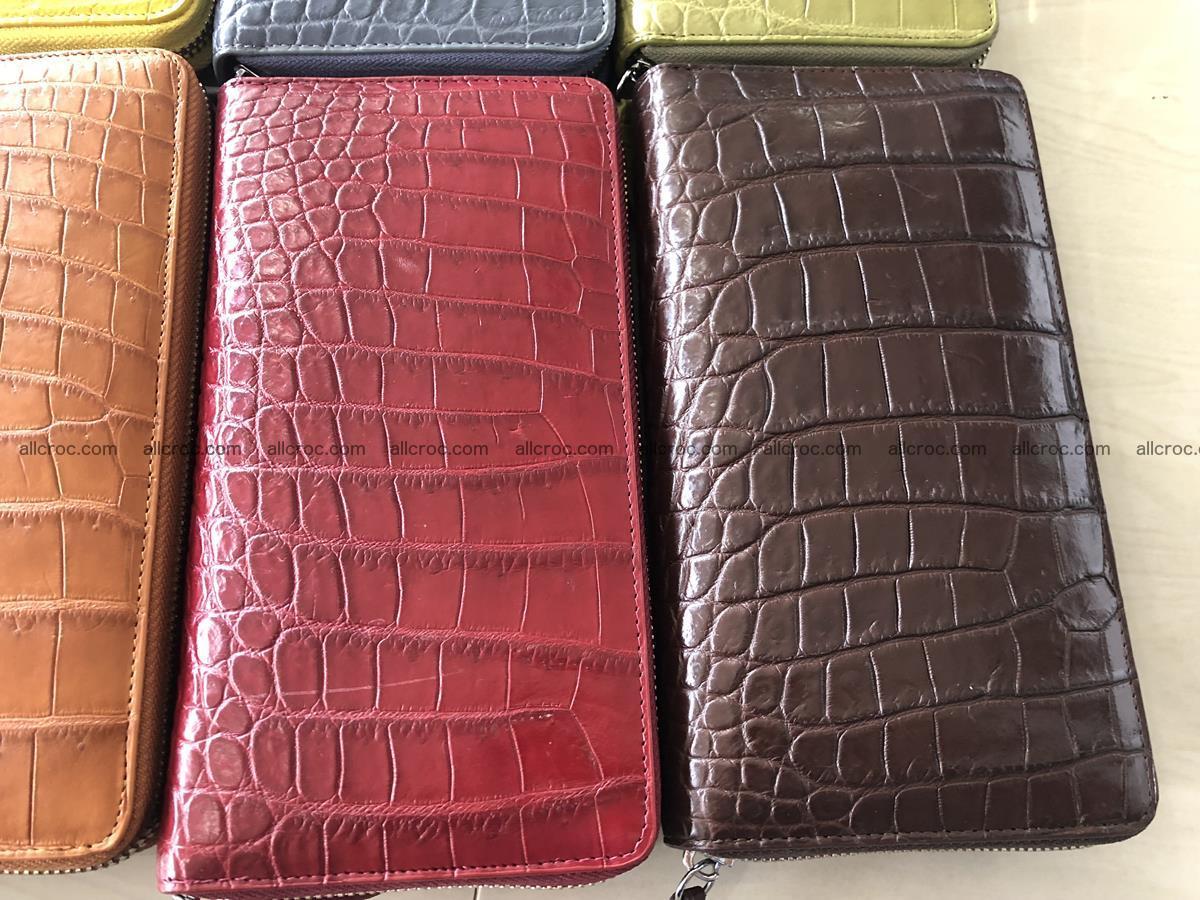Hornback crocodile skin wallet with zip 465 Foto 11