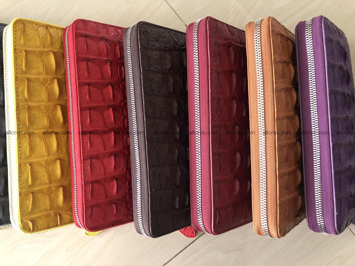 Hornback crocodile skin wallet with zip 465 Foto 13