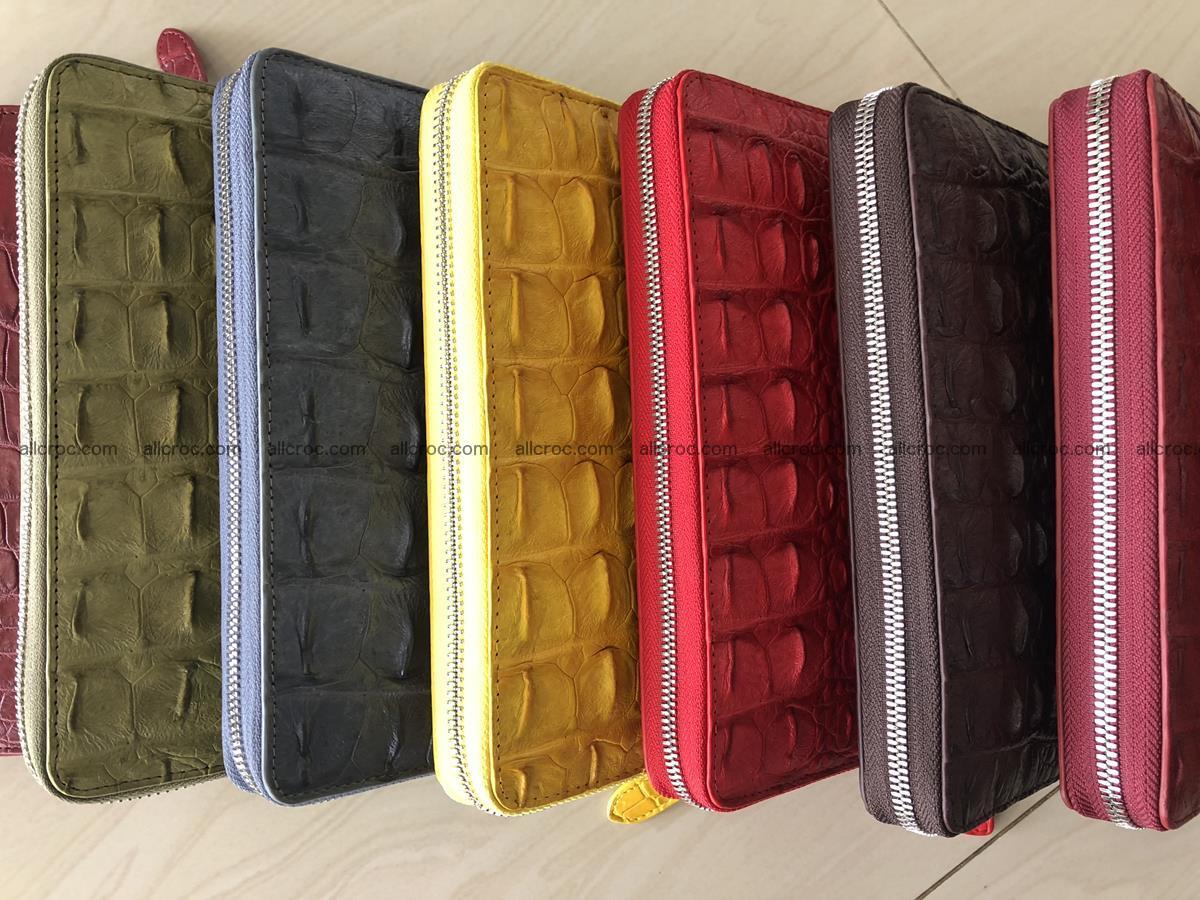 Hornback crocodile skin wallet with zip 465 Foto 14