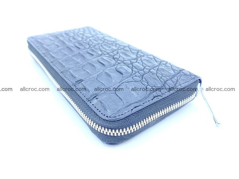 Crocodile skin wallet with zip 885
