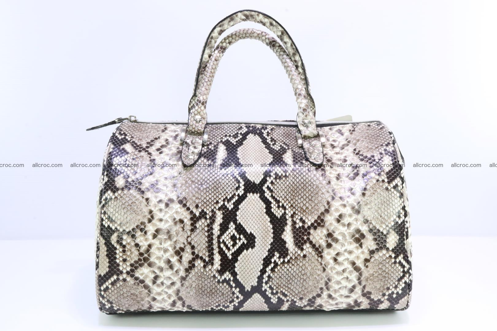 Ladies handbag, valise from genuine python skin 207 Foto 0