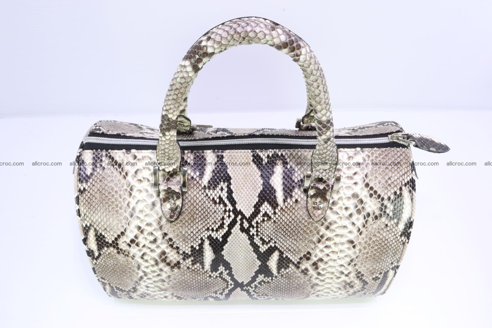 Ladies handbag, valise from genuine python skin 207 Foto 4